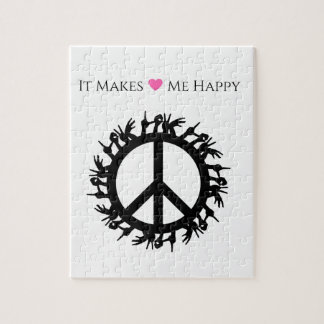 It Makes Me Happy-Peace Jigsaw Puzzle