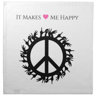 It Makes Me Happy-Peace Napkin