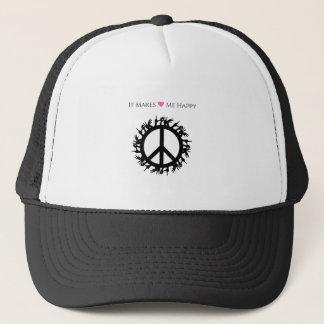 It Makes Me Happy-Peace Trucker Hat