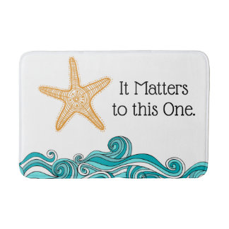 It Matters to This One Starfish Bath Mat