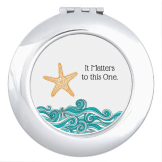 It Matters to This One Starfish Compact Mirrors