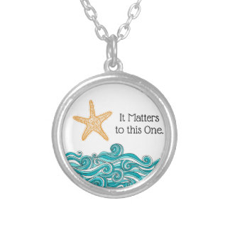 It Matters to This One Starfish Silver Plated Necklace
