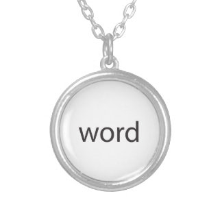 it means cool a k a word up ai necklace