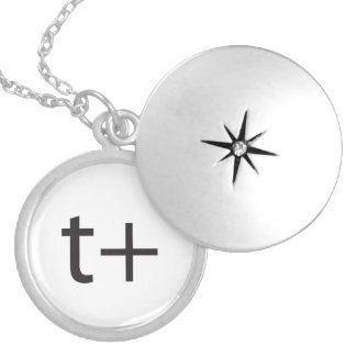 it means think positive.ai round locket necklace