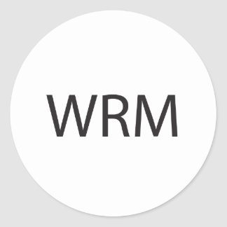 it means warm ai round stickers