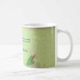 It never says Good bye Basic White Mug