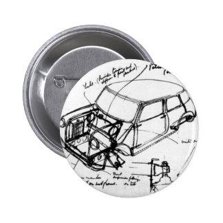 it plates classic mini outline 6 cm round badge