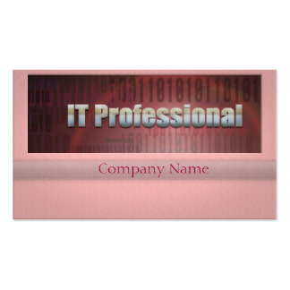 IT Professional Binary Flare Pack Of Standard Business Cards