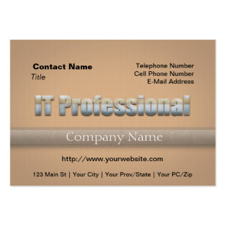 IT Professional Pack Of Chubby Business Cards