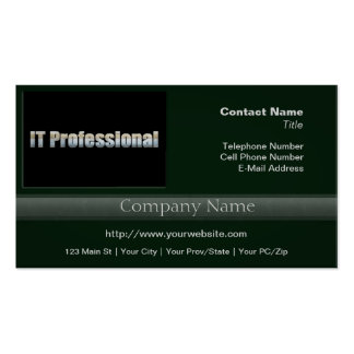 IT Professional Pack Of Standard Business Cards