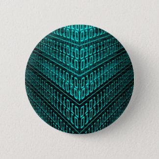 IT programmer high tech computer binary code 6 Cm Round Badge