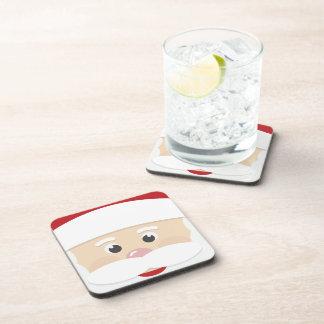 It puts Merry Glasses SANTA Christmas Drink Coasters
