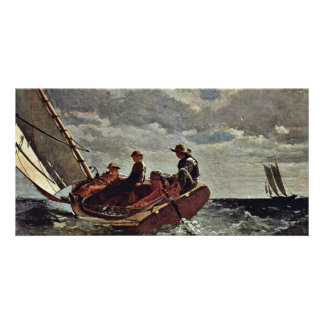 It Refreshes By Homer Winslow (Best Quality) Custom Photo Card