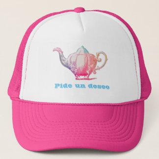It requests a desire trucker hat