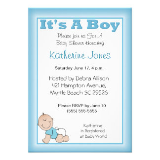 It s a Boy Baby Shower Invitation
