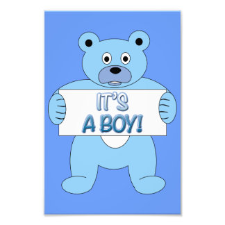 It s A Boy Blue Bear Photograph