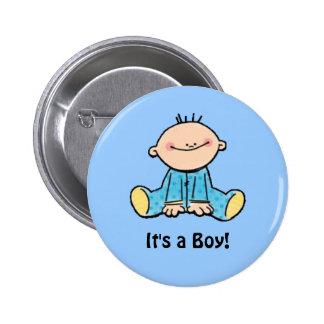 It s a Boy cartoon Button