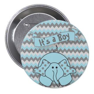It s A Boy Cute Elephant Pins