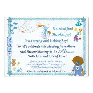 It's a Boy – Personalized Baby Shower Invitation