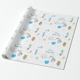 It's a Boy – Personalized Baby Shower Wrapping Paper