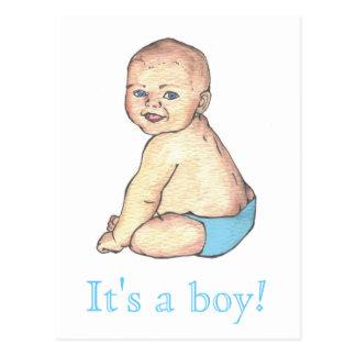 It s a boy postcard