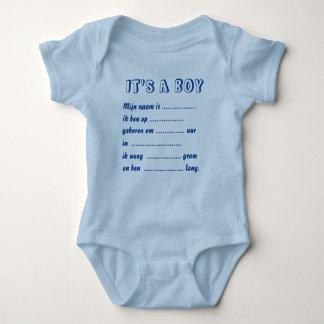 It s. a. boy rompertje baby bodysuit