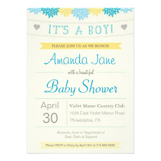 It s a Boy Shower Invite