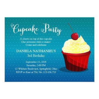 It s A Cupcake Party Custom Invitations