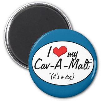 It s a Dog I Love My Cav-A-Malt Refrigerator Magnet