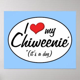 It s a Dog I Love My Chiweenie Print
