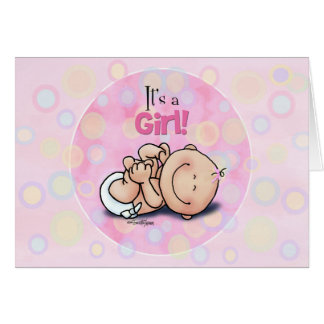 It s a Girl - Baby Congratulations Cards
