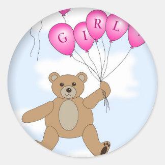 It s a Girl Teddy Bear sticker