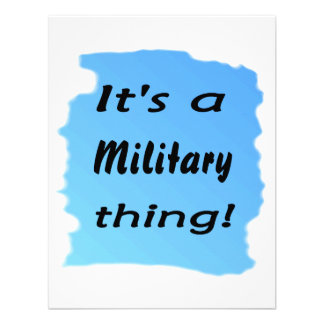 It s a military thing announcements