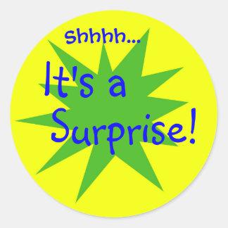 It s a Surprise Round Sticker