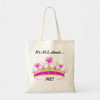 It s All About ME Fun Princess Tote Canvas Bags