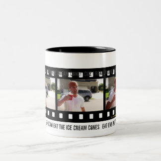 """""""It's in a CUP Instead of a Ice Cream Cone!"""" Two-Tone Mug"""