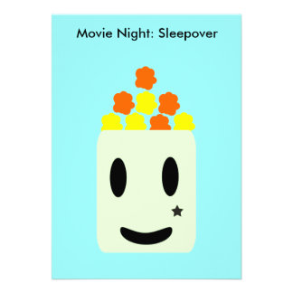 It s Movie Night All Night Sleepover Personalized Invites