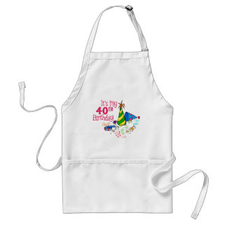 It s My 40th Birthday Party Hats Apron