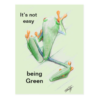 It' S not easy being Green Postcard