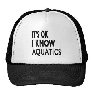 It s OK I Know Aquatics Dance Trucker Hat