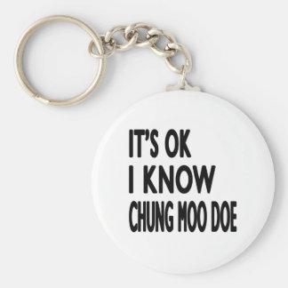 It s Ok I know Chung Moo Doe Key Chains