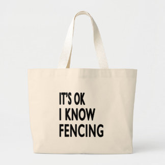 It s OK I Know Fencing Dance Tote Bag