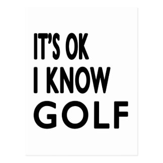 It s OK I Know Golf Dance Postcards