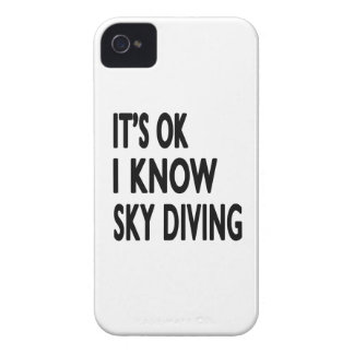 It s OK I Know Sky diving Case-Mate iPhone 4 Cases