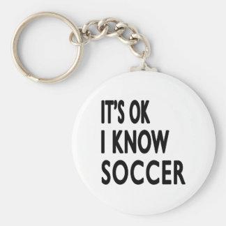 It s OK I Know Soccer Keychain