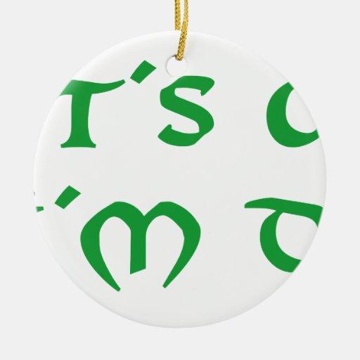 it´s ok i´m drunk shamrock st. Patrick´s day Christmas Ornament