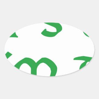 it´s ok i´m drunk shamrock st. Patrick´s day Oval Sticker