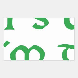 it´s ok i´m drunk shamrock st. Patrick´s day Rectangle Stickers
