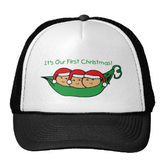 It s Our First Christmas - Triplets Trucker Hat