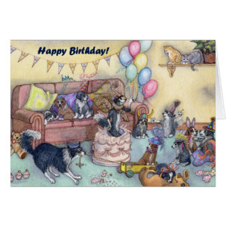 It s party time Birthday Style Card